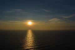 Coucher du soleil de Kaliakra de cap Images stock