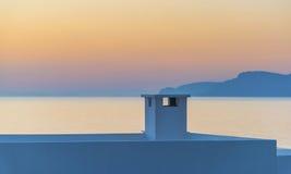 Coucher du soleil de Kalymnos Images stock