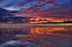 Coucher du soleil de Karon Image libre de droits