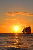 Coucher du soleil de Key West Photos libres de droits