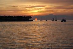 Coucher du soleil de Key West Photographie stock libre de droits