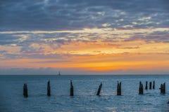 Coucher du soleil de Key West images stock