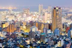 Coucher du soleil de Kobe Cityscape images libres de droits