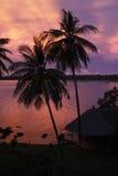 Coucher du soleil de Koh Mak Images stock