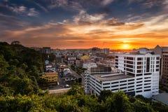 Coucher du soleil de Kota Kinabalu Images libres de droits