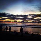 Coucher du soleil de Kuta Image libre de droits