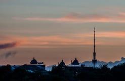 Coucher du soleil de Kyiv Photos libres de droits