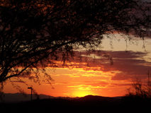 Coucher du soleil de l'Arizona Photographie stock