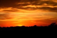 Coucher du soleil de l'Arizona Photographie stock libre de droits