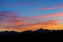 Coucher du soleil de l'Arizona photo stock