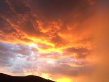 Coucher du soleil de l'Arizona Photos stock