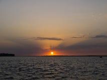 Coucher du soleil de l'eau Photo libre de droits