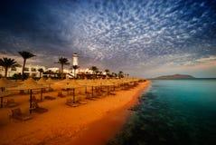 Coucher du soleil de l'Egypte Photo stock