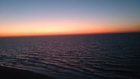 Coucher du soleil de l'Egypte Images stock