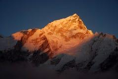 Coucher du soleil de l'Himalaya Photos stock