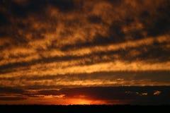 Coucher du soleil de l'Illinois Image stock