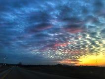 Coucher du soleil de l'Illinois Photographie stock libre de droits