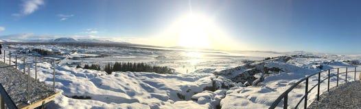 Coucher du soleil de l'Islande Image libre de droits