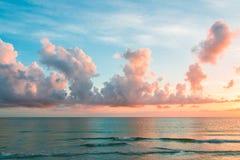 coucher du soleil de l'Océan Atlantique Images stock