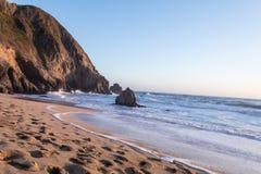 Coucher du soleil de l'océan pacifique Image stock