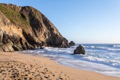 Coucher du soleil de l'océan pacifique Photos stock