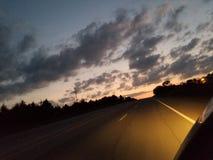 Coucher du soleil de l'Oklahoma photographie stock