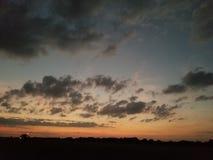 Coucher du soleil de l'Oklahoma photographie stock libre de droits