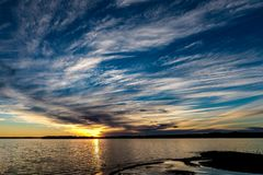 Coucher du soleil de l'Oklahoma Photo stock