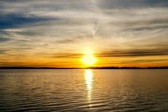 Coucher du soleil de l'Oklahoma Images stock