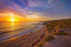 Coucher du soleil de la Californie Photos libres de droits