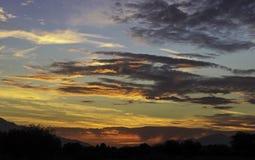 Coucher du soleil de la Californie Photographie stock libre de droits