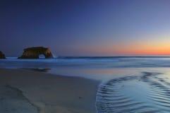 Coucher du soleil de la Californie photographie stock
