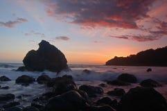Coucher du soleil de la Californie photos stock