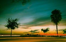 Coucher du soleil de la Californie Image stock