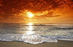 Coucher du soleil de la Corse Photographie stock libre de droits
