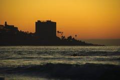 coucher du soleil de La de jolla Photo libre de droits