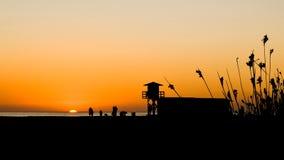 coucher du soleil de La du conil de frontera Images stock
