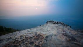 Coucher du soleil de la falaise Photos stock