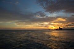 Coucher du soleil de la Floride Photo stock
