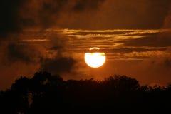 Coucher du soleil de la Floride Images libres de droits