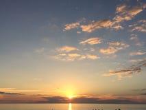 Coucher du soleil de la Floride Photographie stock