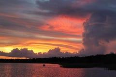 Coucher du soleil de la Floride de sud-ouest de Thisisnativeflo Photo libre de droits