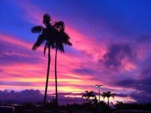 Coucher du soleil de la Guam Images libres de droits