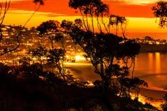 Coucher du soleil de La Jolla Images libres de droits