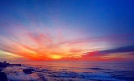 Coucher du soleil de La Jolla Photographie stock