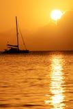 Coucher du soleil de la Martinique Photographie stock libre de droits