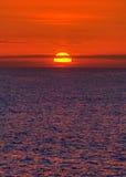 Coucher du soleil de la Mer du Nord Photos libres de droits