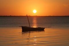 Coucher du soleil de la Mozambique Image stock