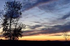 Coucher du soleil de la Nouvelle Angleterre Photos stock