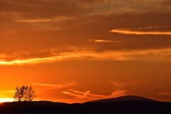 Coucher du soleil de la Nouvelle Angleterre Images libres de droits